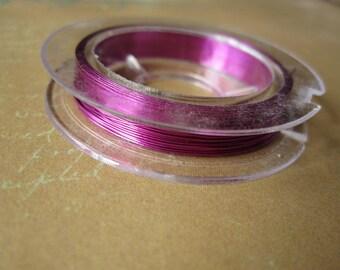 Reel 10metres 0.38 Fuchsia colored copper wire