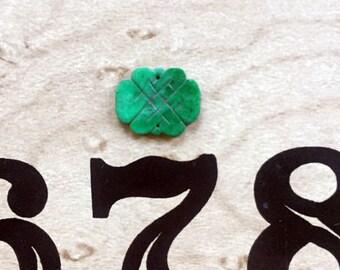 Vintage Carved Jade Endless Knot Charm