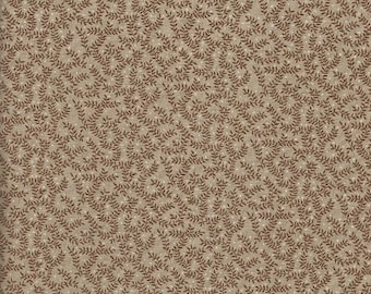 Tan Calico Print Fabric  1 yard