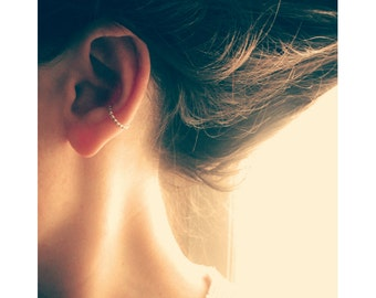 Minimalist Silver Ear Cuff Non Pierced, Conch Earring, Sterling Silver Earring Cuff No Piercing, Fake Conch Ring, Simple Ear Cuff Earrings