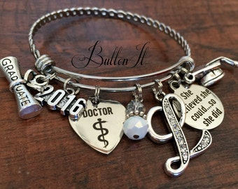 Doctor gift, gift for doctor, medical school graduate, RN gifts, nurse gifts, Nurse graduation, Graduate, She Believed she could so she did