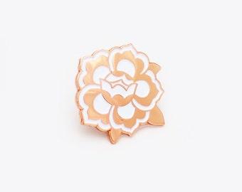 Floral medallion pin / light
