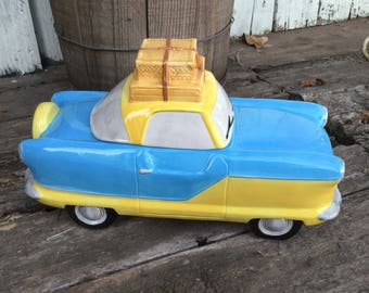 Vintage Fitz and Floyd Cookie Jar, Nash Metropolitan, 1995 Omnibus Cookie Jar, Vintage  Fitz and Floyd,