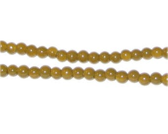 4mm Gold Team and School Glass Bead, approx. 102 beads