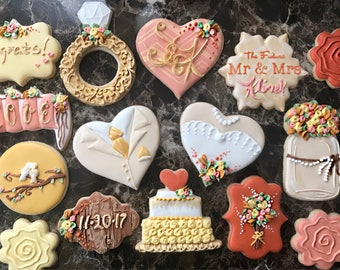 Engagement Cookies, engagement gift, congratulations on engagement cookies