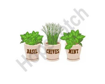 Herbs - Machine Embroidery Design