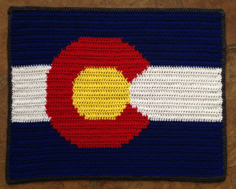 4 Sizes Colorado Flag Blanket PDF Crochet Pattern