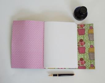 Baking Book, Recipe Journal, Cup cake Journal, Blank Book, Cup cake gift, Baking Gift, Blank book, handmade Journal