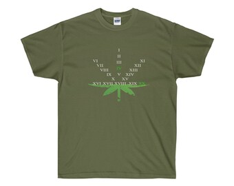 420 Leaf With Roman Numerals Adult TShirt