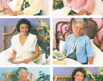 Vintage 70's Women's Bed Jackets by Patons 520