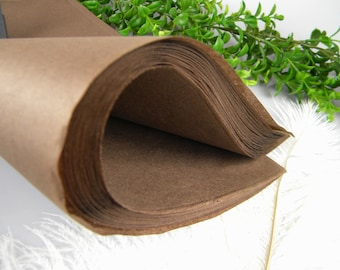 "Brown Tissue Paper Sheets, Rustic Wedding Gift Wrap, Fall Packaging, 48 Sheets 20"" X 30"" Brown Tissue Sheets , Craft supply"