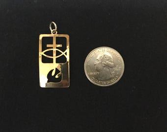 cross, dove pendant, holy spirit, footprints, pendant, Christian necklace, scripture jewelry, witnessing, 3:16