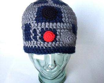 Space Droid I beanie, handmade crochet || Child, Adult, XL Adult || Made to Order