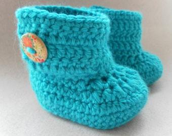 Jade baby booties, baby shoes, crochet baby shoes, crib shoes, baby, baby footwear, booties, baby slippers, crochet