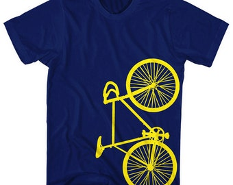 Fixie Bike Fixed Gear Bicycle T-Shirt. Printed on Ultra Soft Ringspun Cotton