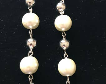 Beaded pearl dangles