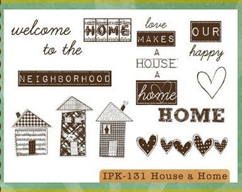 CLEARANCE Ippity Stamps - House a Home