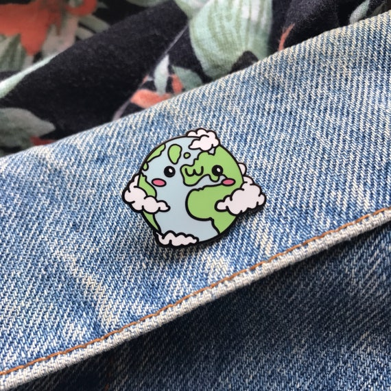 Lil Earth Enamel Pin