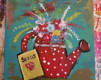 Watering Can Painting