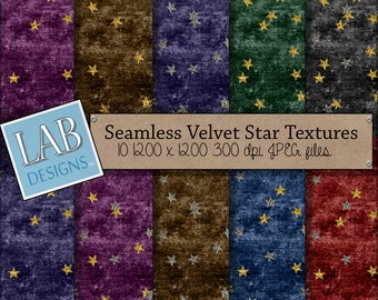 Glitter Stars Digital Paper - Gold and Silver  - Digital Paper - Instant Download Seamless Printable Wizard Background for Personal Use