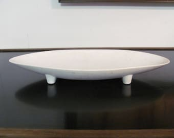 Large Mid Century Modern Porcelain Elliptical Shaped Platter