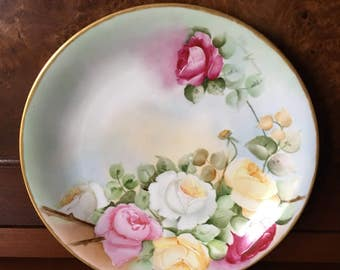 Antique Limoges Hand Painted Charger Plate Charles Martin Artist Signed China - 1905