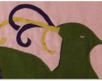 "Woodland Animal Quilt Block Pattern, ""Quail"""