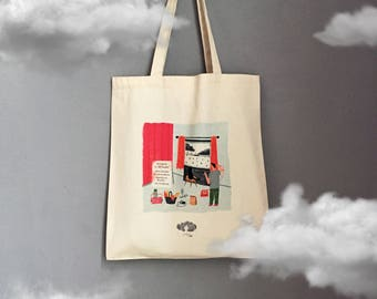 My B Plan Canvas Tote Bag, Shopper, Shoulder Bag, Fair Trade, Gift for Her, Shopper Bag, Gabardine Bag, Rainy Day Print