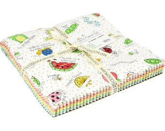"""Lil' Sprout Flannel Too! - Layer cake (42) 10"""" squares - Maywood - Kim Christopherson - Adorable baby/child flannel! - gifts"""