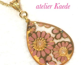 "Necklace ""antique flower - pink"""