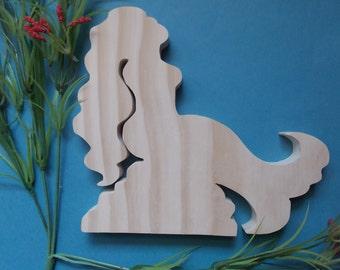 Mermaid Unfinished DIY Wood Decoration