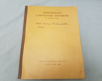 Vintage Ornithology Laboratory Notebook Arthur A. Allen Birds bird watching