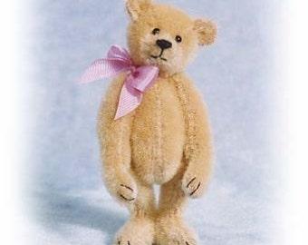 Miss Butternut - Miniature Teddy Bear Kit - Pattern - by Emily Farmer