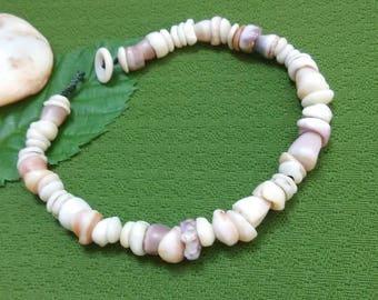 Puka Shell Anklet - Hawaiian Shell Jewelry Cone Shell Beach Bracelet Kauai Puka Shell Bracelet Island Seashell Jewelry- Eco Friendly