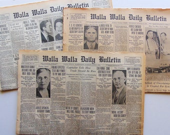 ONE Vintage Newspaper 1920's/1930's