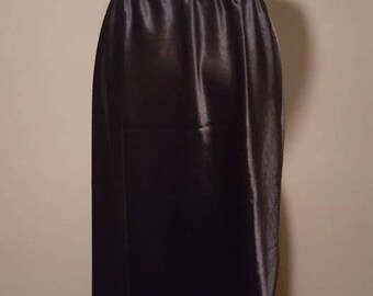 L / Farr West Black Satin Half Slip / Large