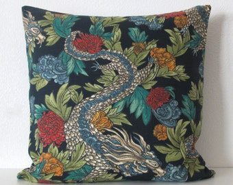 Dwell Studio Ming Dragon Admiral Chinese dragon decorative pillow cover
