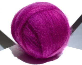 Wilde Berry Wool Roving, Needle Felting, Spinning Fiber, hot pink violet Magenta wool roving, berry roving, Saori weaving