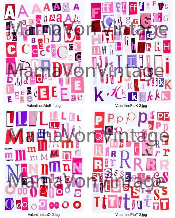 items similar to printable magazine letter cutouts