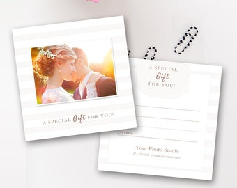 Photography Gift Certificate Template, Photo Gift Card Templates, Photographer Photoshop Templates, Voucher - INSTANT DOWNLOAD