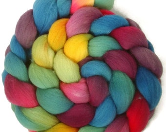 Handpainted Targhee Wool Roving - 4 oz. ARCADE- Spinning Fiber