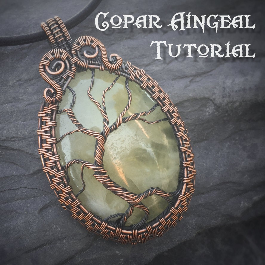 Tutorial yggdrasil pendant wire wrapping jewelry pattern zoom aloadofball