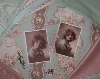 Victorian Crazy Quilt Inspiration Kit    Sweet Shabby French Girl