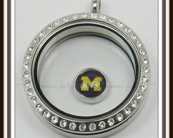 Michigan Floating Charm for Glass Locket / Floating Locket