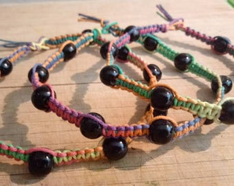 Beaded Rainbow Anklets