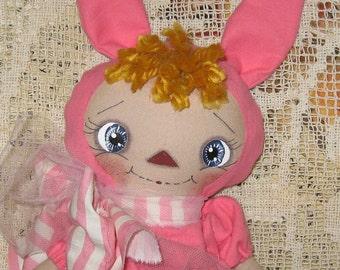 Primitive Raggedy Ann * Easter Bunny Raggedy Annie