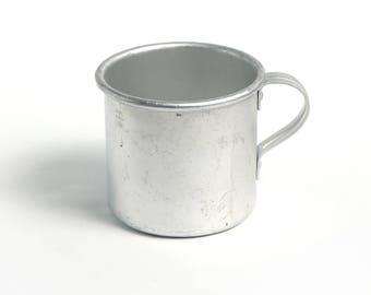 New vintage Military camping Cup,  aluminum mug, Kitchen decor, Farmhouse decor
