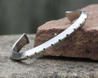 Cuff Bracelet in Sterling Silver. southwestern jewelry, boho jewelry