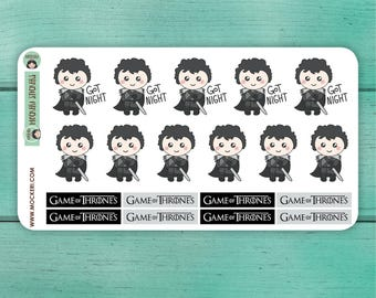 19 Game of Thrones Stickers / Jon Snow Stickers / Planner Stickers / TV Stickers