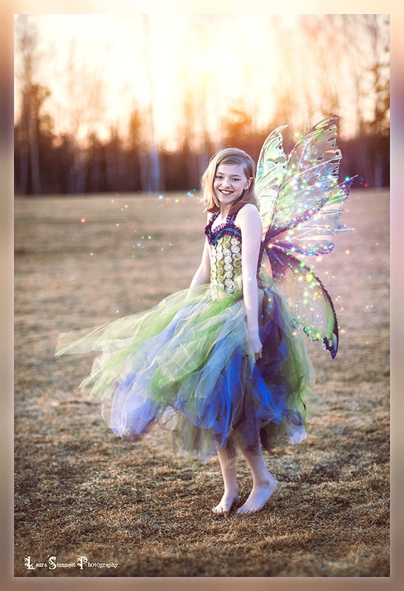 QUEEN MAB WINGS Large Iridescent Realistic Fairy Wings